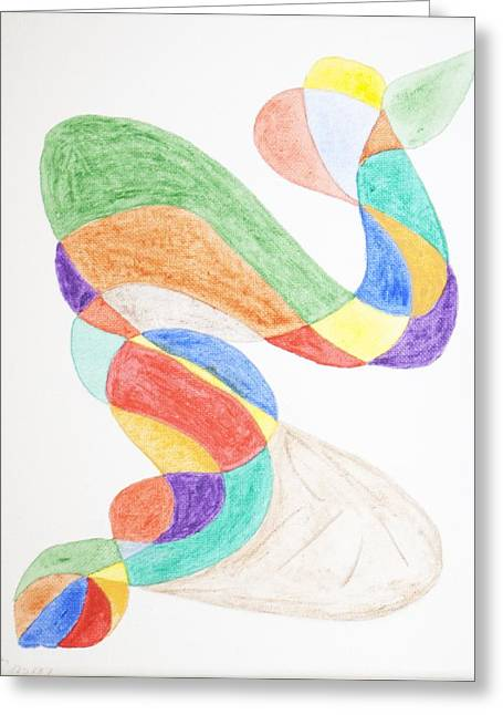 Greeting Card featuring the painting Bird Snake by Stormm Bradshaw