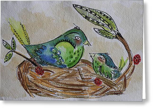 Bird Talk Greeting Card