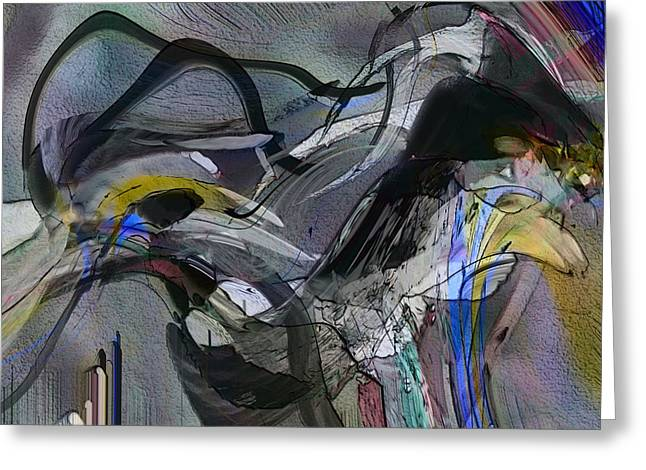 Greeting Card featuring the digital art Bird That Wept With Me by Richard Thomas