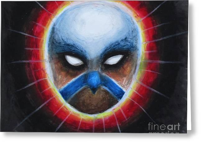Bird Totem Mask Greeting Card by Samantha Geernaert