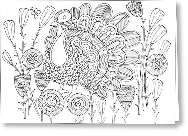 Bird Turkey Bird 1 Greeting Card
