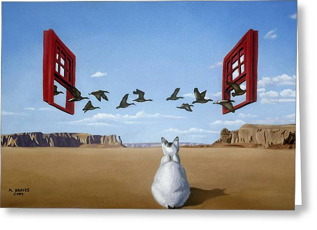 Bird Watcher Greeting Card by Michael Bridges