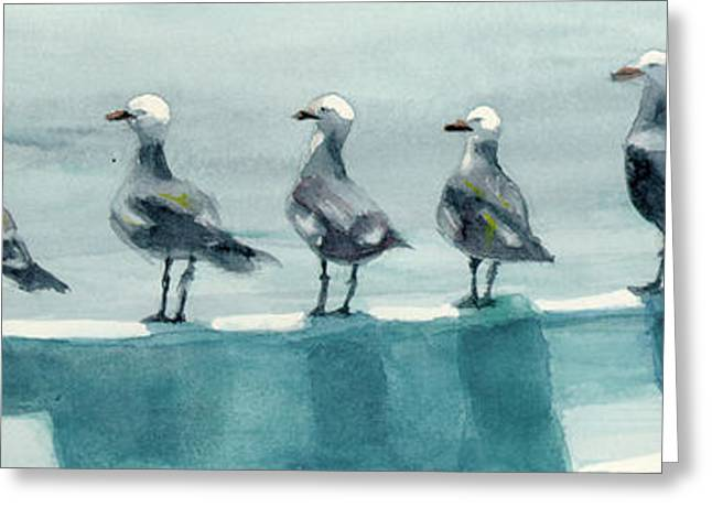 Bird Watchers Greeting Card by Faythe Mills