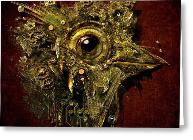 Birdmachine Greeting Card by Alexa Szlavics