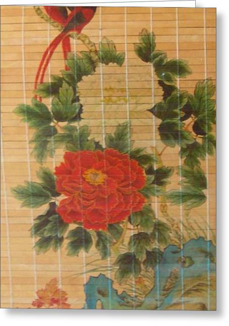 Birds Among The Roses Greeting Card by Pat Mchale
