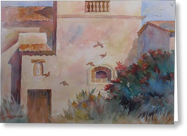 Birds At Carmel Mission Greeting Card