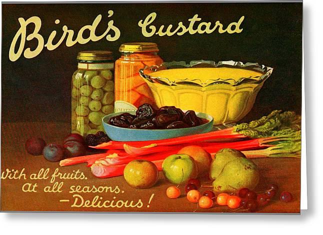 Bird's Custard Advertisement Greeting Card by Charlie Ross