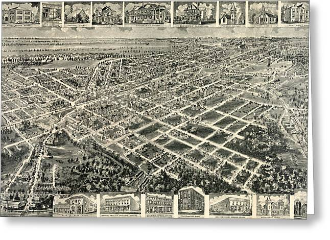 Birds Eye View Of Rocky Mount, North Carolina 1907 Greeting Card by Litz Collection