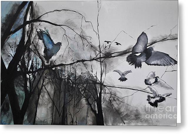 Greeting Card featuring the photograph Birds by Maja Sokolowska