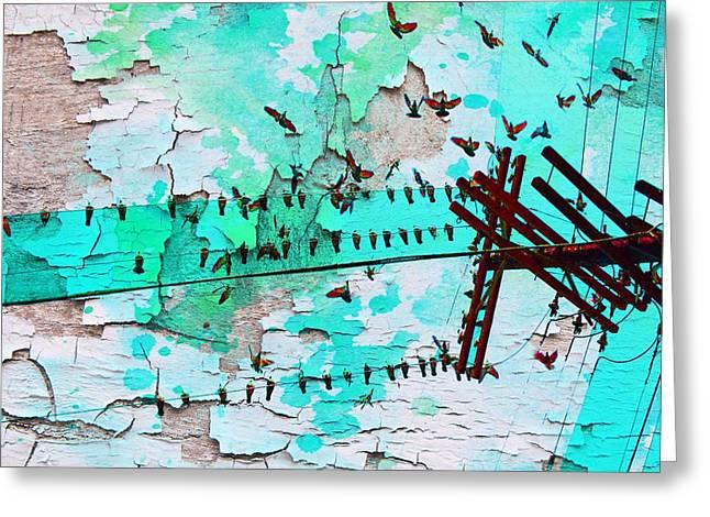 Birds Melody Greeting Card by Irena Orlov