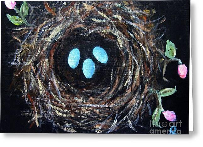Bird's Nest Greeting Card by Venus
