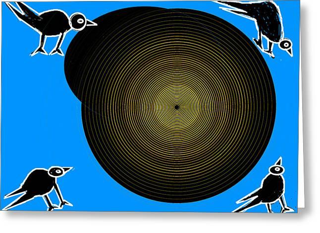 Birds New World Greeting Card by Anand Swaroop Manchiraju
