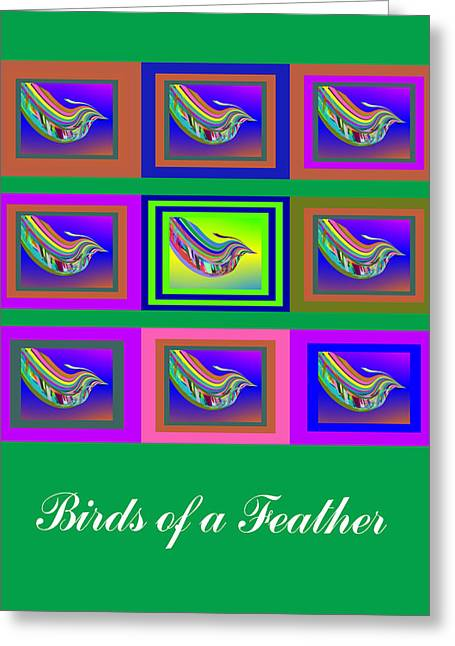 Birds Of A Feather 2 Greeting Card by Stephen Coenen