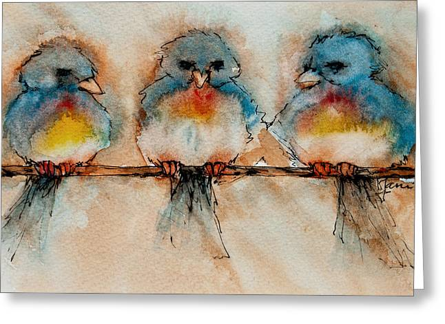 Birds Of A Feather Greeting Card by Jani Freimann