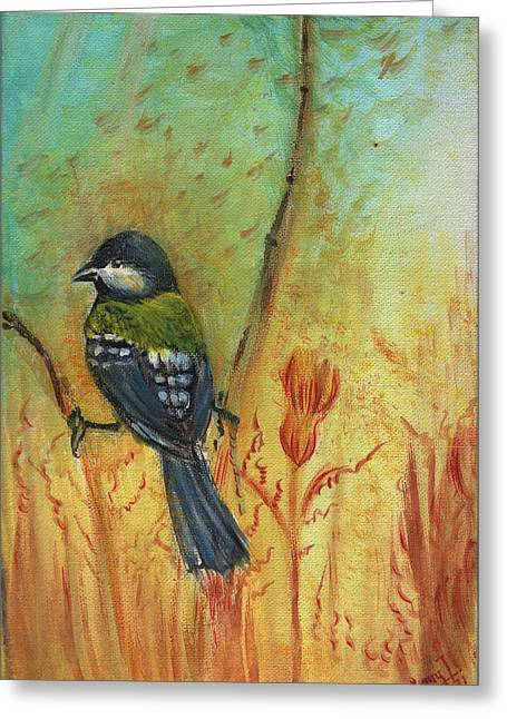 Birds Of A Feather Series3 In Autumn Greeting Card by Remy Francis