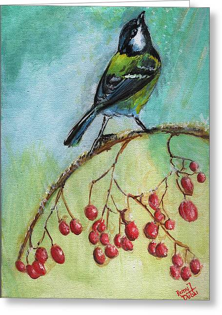 Birds Of A Feather Series4 Greeting Card by Remy Francis