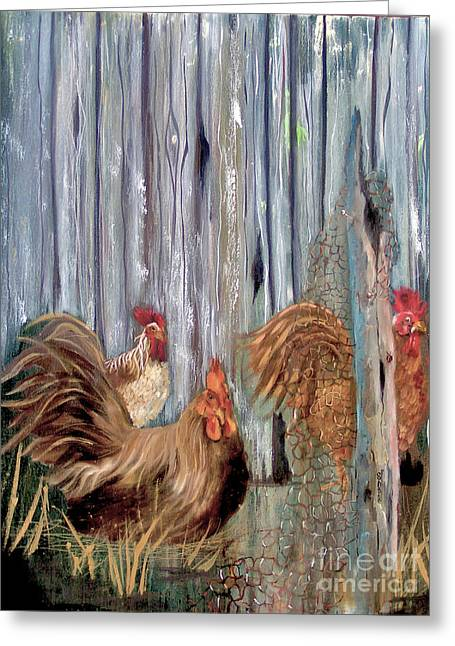 Birds Of A Feather Greeting Card by Sharon Burger