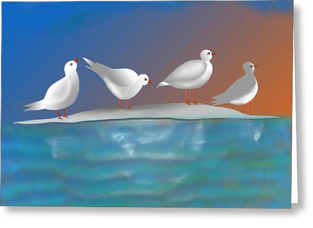 Birds Of Summer Breeze Greeting Card by Latha Gokuldas Panicker
