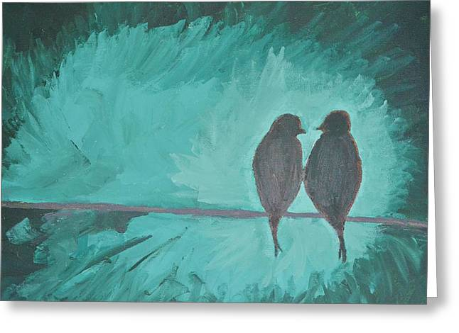 Birds On A Branch Greeting Card