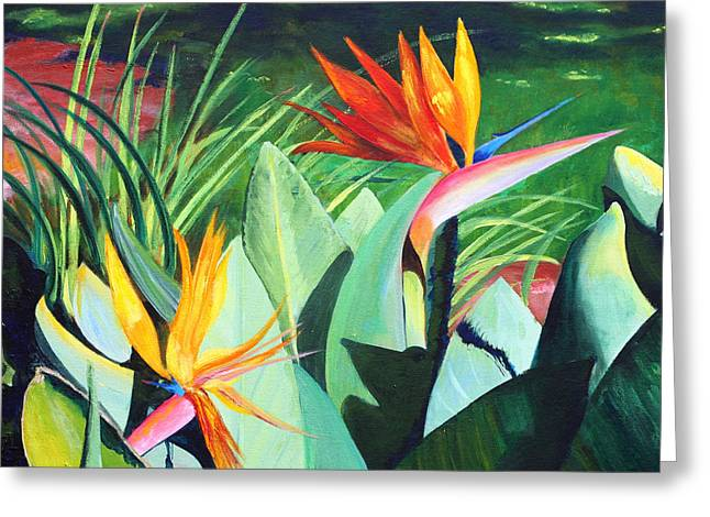 Birds...in Paradise Greeting Card