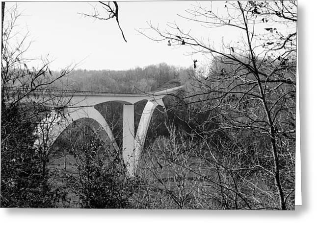 Birdsong Hollow Bridge Greeting Card by Scott Carr