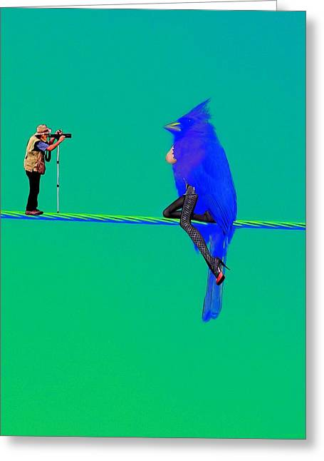 Birdwatcher Greeting Card