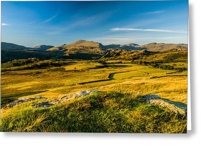 Birker Fell Lake District Greeting Card by David Ross