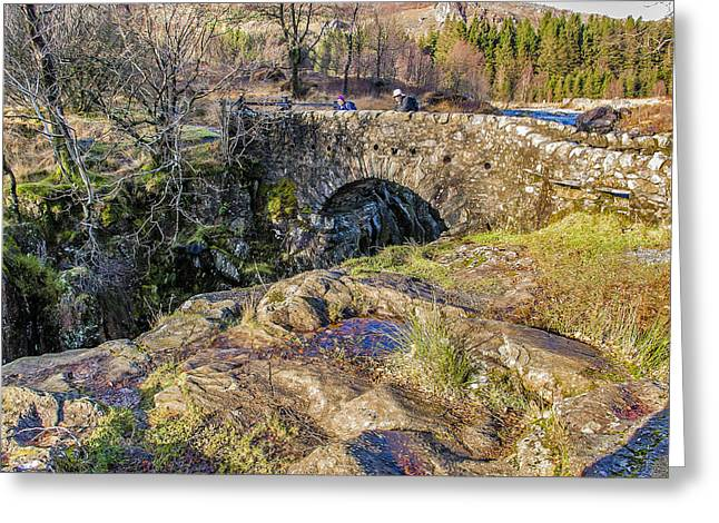 Birks Bridge Lake District Greeting Card by Trevor Kersley