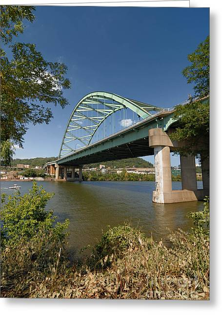 Birmingham Bridge Pittsburgh South Side Greeting Card by Amy Cicconi
