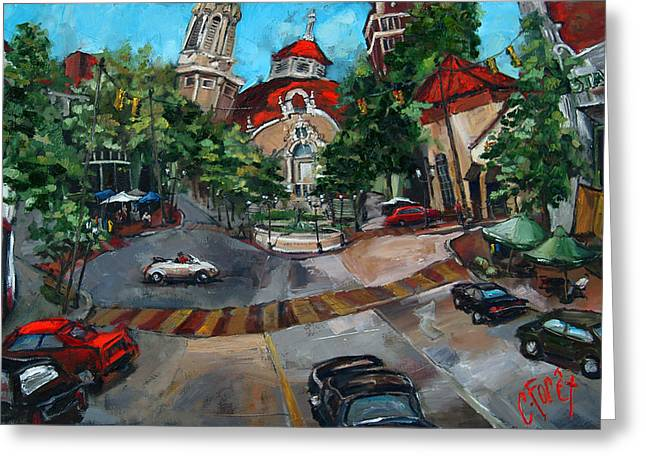 Birmingham Five Points Greeting Card by Carole Foret