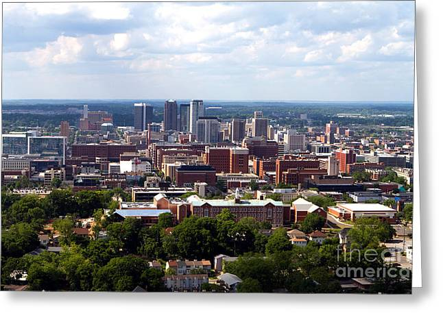 Birmingham Skyline Greeting Card