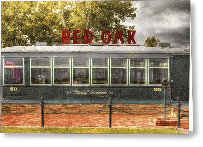 Birney Streetcar Greeting Card by L Wright