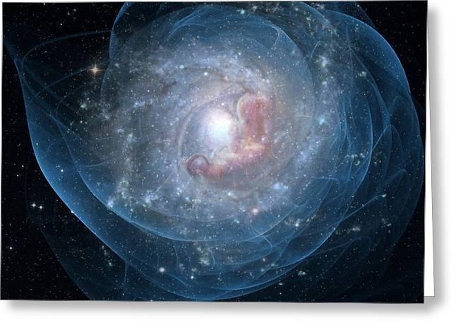 Birth Of A Galaxy Greeting Card by Gun Legler