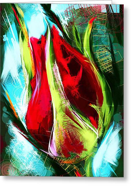 Birth Of A New Rose Greeting Card by Mikko Tyllinen