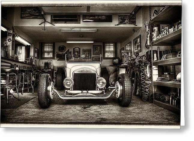 Birth Of A Roadster Greeting Card by Robert  FERD Frank