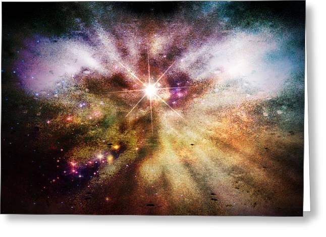 Birth Of A Star Greeting Card