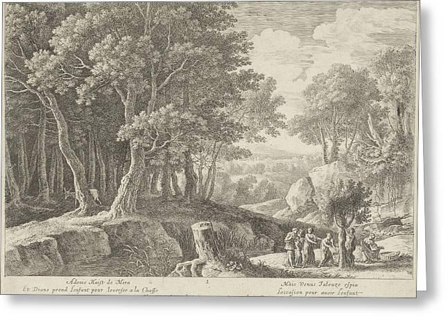 Birth Of Adonis, Herman Van Swanevelt, Lodewijk Xiv King Greeting Card by Herman Van Swanevelt