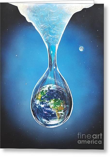 Birth Of Earth Greeting Card