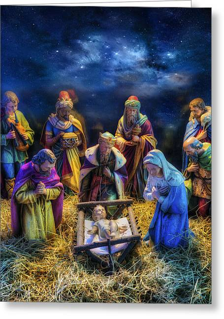 Birth Of Jesus Greeting Card by Ian Mitchell
