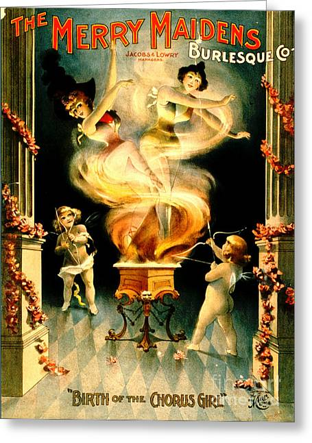 Birth Of The Chorus Girl 1897 Greeting Card by Padre Art