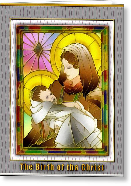 Birth Of The Christ Greeting Card