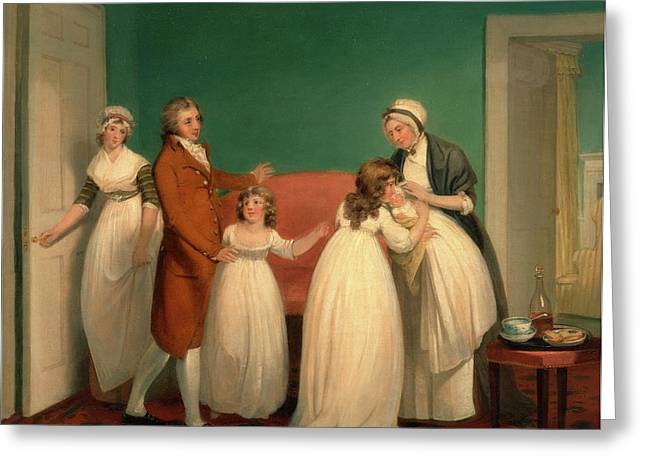 Birth Of The Heir, William Redmore Bigg, 1755-1828 Greeting Card