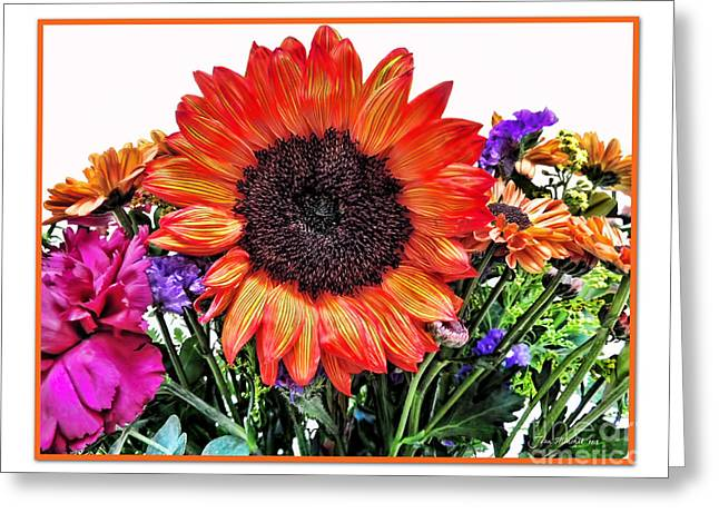 Birthday Bouquet Greeting Card by Joan  Minchak