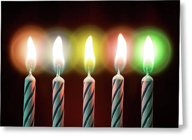 Birthday Candles Greeting Card by Wladimir Bulgar
