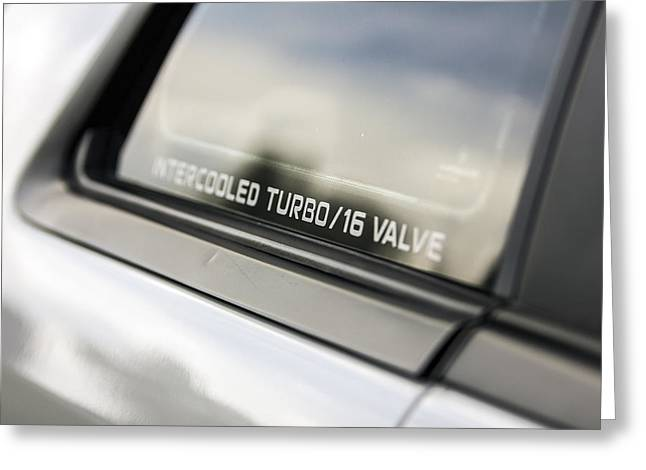 Birthday Car - Intercooled Turbo 16 Valve Greeting Card