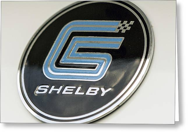 Birthday Car - Shelby Logo Greeting Card