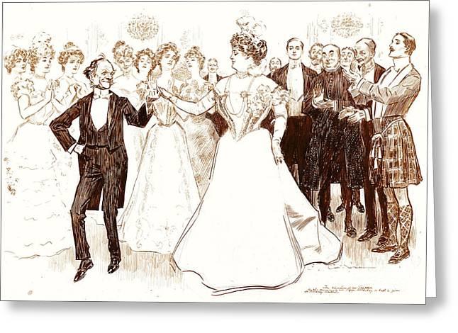 Birthday Dance 1899 Greeting Card by Padre Art