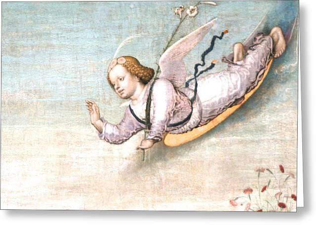 Birthing   Hi  Ive Arrived Greeting Card by Phoenix De Vries