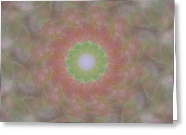 Birthing Mandala 1 Greeting Card by Rhonda Barrett