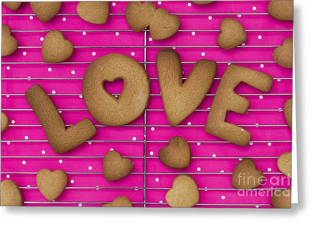 Biscuit Love Greeting Card by Tim Gainey